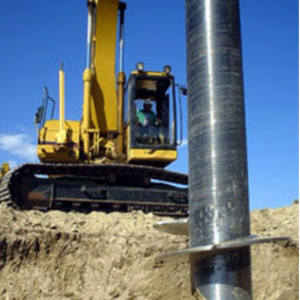 Helical Pile installation - 1